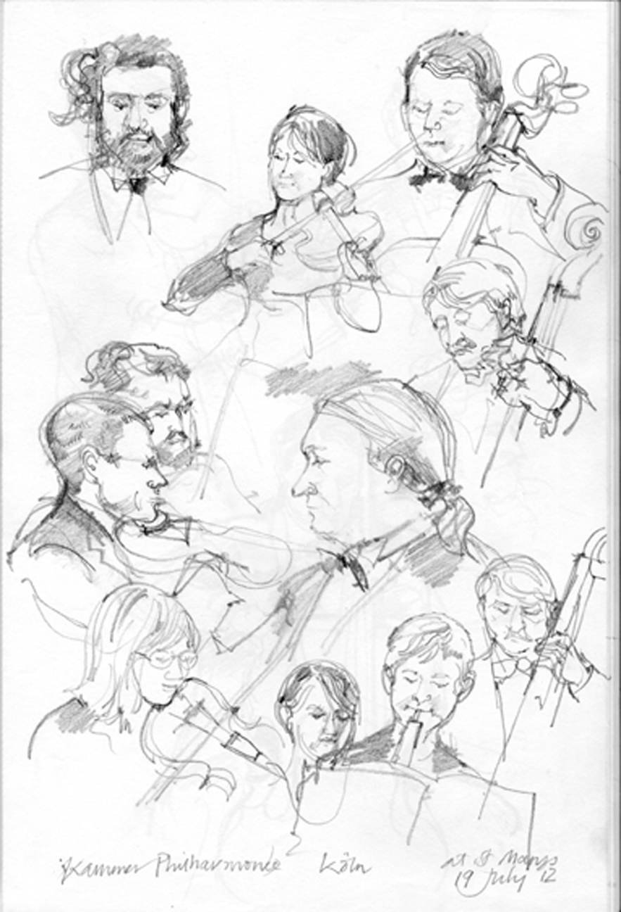 Chamber Music Drawing These Are Some of The Drawings