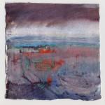 Far Sea, watercolour, 14x14 cms
