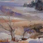 First Snow, Mynydd Bach 26x20 cms