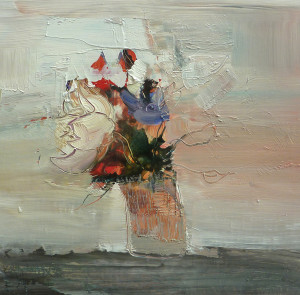 Mixed Flowers 20x20 cms oil
