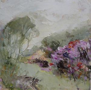 October Garden, oils