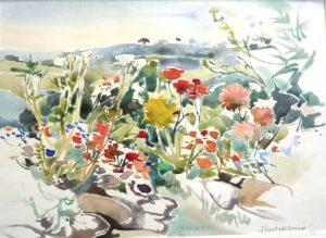Summer Garden, watercolour