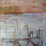 Carrelets, Talmont. 20x15 cms, oil pastel on paper