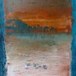 Failaise du Caillaud, 20x15 cms, oil pastel on paper