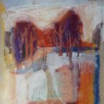 Trees, Larceau. 20x15 cms, oil pastel on paper
